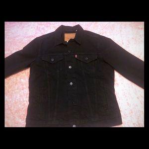 Levi Strauss men's black jean jacket.